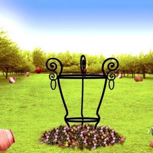 Merveilleux Iron Garden Trellis Obelisk H  001